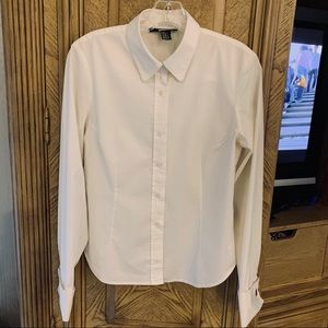 💌DKNY Blouse with Cuff links 95% cotton
